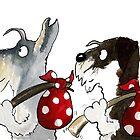 Schnauzers Dogs 'Ozzy & Juba' by archyscottie