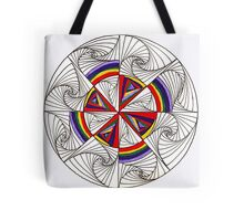 Psychedelic Rainbow Tote Bag
