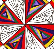 Psychedelic Rainbow Sticker