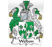 Weldon Coat of Arms (Irish) Poster