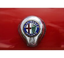 Alfa Romeo Badge Photographic Print