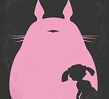 No290 My My Neighbor Totoro minimal movie poster by Chungkong