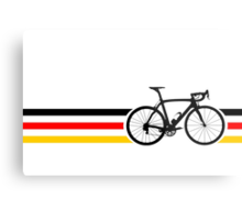 Bike Stripes German National Road Race v2 Metal Print