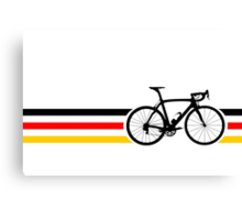 Bike Stripes German National Road Race v2 Canvas Print