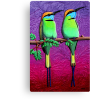 Green Bee-Eaters Canvas Print