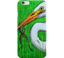 Egret with Frog iPhone Case/Skin