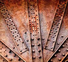 Rivets and screw on rusty machine by pifate