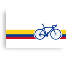 Bike Stripes Colombia National Road Race Canvas Print