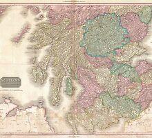 Vintage Map of Southern Scotland (1818) by BravuraMedia