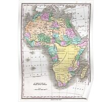 Vintage Map of Africa (1827)  Poster