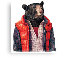 Bear to the Future Canvas Print