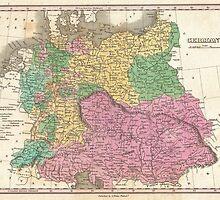 Vintage Map of Germany (1827)  by BravuraMedia