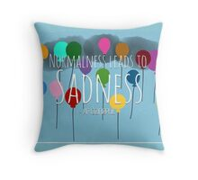AmazingPhil Quote Normalness leads to Sadness Throw Pillow
