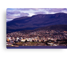 Rosny Hill—View to Hobart & Mt Wellington Canvas Print
