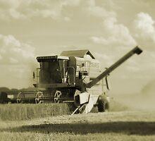 Vintage Combine Harvester  by digitalshot