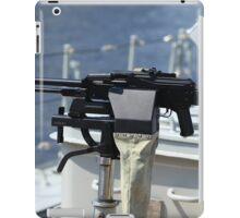 Machine gun on warship iPad Case/Skin