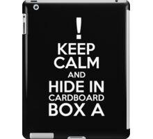 Keep Calm and Cardboard Box iPad Case/Skin