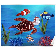 Swimming the sea Poster