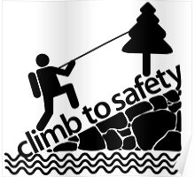 Climb To Safety Grey Poster