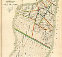 Vintage Map of New York City (1831)  by BravuraMedia