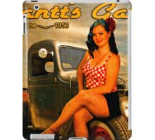 1956 Pinup Calendar Page from Gantt's Garage iPad Case/Skin