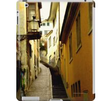 Trittligasse, in Zurich Niederdorf iPad Case/Skin