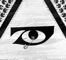 Siouxie and the Banshees, Studded all seeing eye Sticker