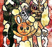 PKMN Scrappy Bunnies by ScribbleSketch