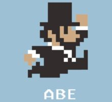 Abraham Lincoln in 8-Bits Kids Clothes