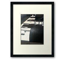 Another empty cafe - Melbourne Framed Print