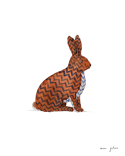 zig zag rabbit by Marc Johns