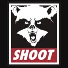 The raccoon doesn't obey, he shoot. by Clownface