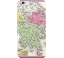 Vintage Map of Greece (1853) iPhone Case/Skin
