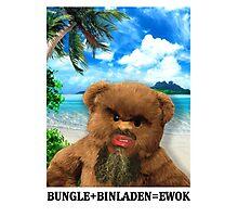 BUNGLE+BINLADEN=EWOK Photographic Print