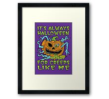 Halloween Creep Framed Print