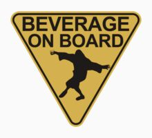 "Big Lebowski ""Beverage On Board"" Sticker by Sofos"