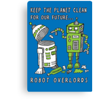 Robot Earth Canvas Print