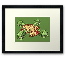 Hungry Hungry Turtles Framed Print