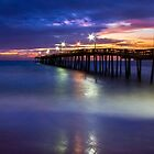 Nags Head Fishing Pier by Kenneth Keifer
