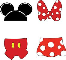 Mickey and Minnie Icons by DaphSmiles