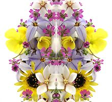 Flower Reflection (vertical)  by numbeduniverse