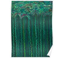 Tufts on Stems in Water Poster