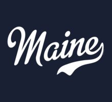 Maine Script White by USAswagg