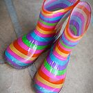 Rainbow gumboots by BlaizerB