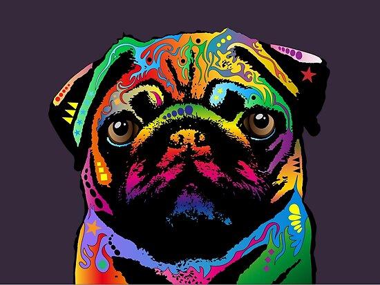 Pug Dog by Michael Tompsett
