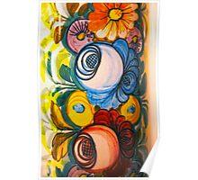 Porcelain Flower Decoration Poster