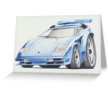 Lamborghini Countach by Glens Graphix Greeting Card