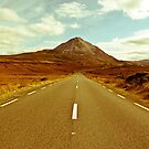 landscape of road to the Errigal mountains by morrbyte