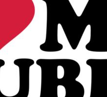 I love my hubby Sticker
