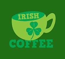 Irish Coffee with cute mug and shamrock by jazzydevil